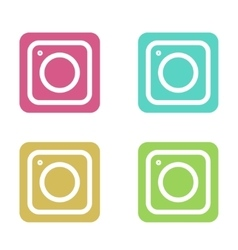 modern colorful flat camera app set vector image