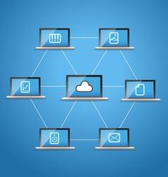 Modern computer network vector