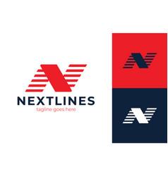 monogram letter n business company logo design n vector image