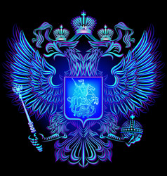 neon emblem of the russian federation vector image