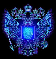 Neon emblem russian federation vector