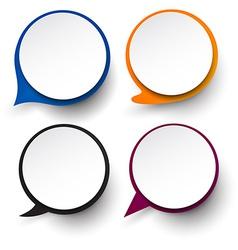 Paper set of round speech bubble vector