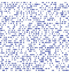 Pattern of goups numbers vector image