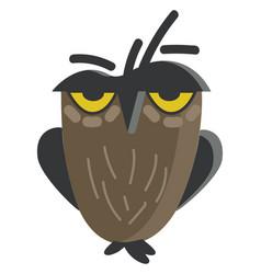 Picture an owl a nocturnal bird grey vector