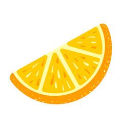 Piece candy orange icon cartoon style vector