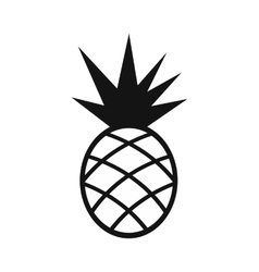 Pineapple simple icon vector image