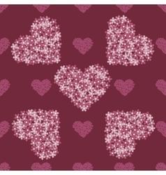 Pink floral heart Vintage background vector