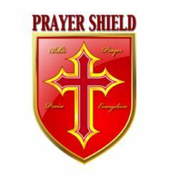 prayer shield vector image