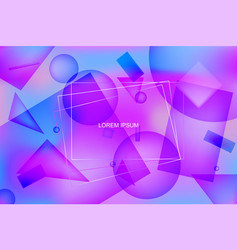purple vibrant background with geometric shapes vector image