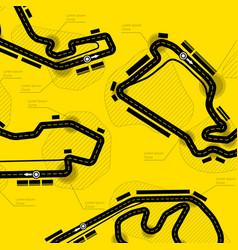 Race track circuit vector