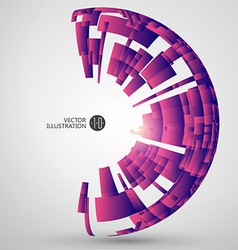 Radial abstract graphics vector