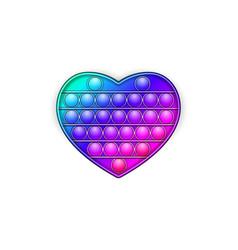 Rainbow trendy pop it fidget toy on a empty vector