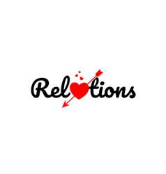 Relations word text typography design logo icon vector