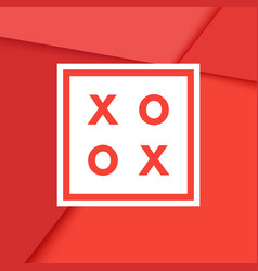 romantic xo xo creative minimal greeting card vector image