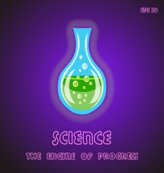 science is the engine of progress vector image