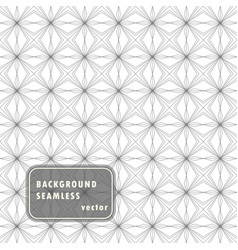 Seamless linear pattern monochrome lines vector