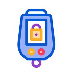secure alarm padlock icon outline vector image