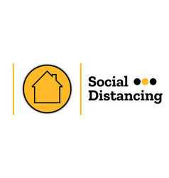 self quarantine and and social distancing concept vector image
