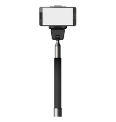 selfie stick mockup realistic style vector image