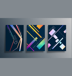 Set abstract background design with linear vector