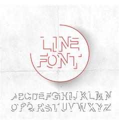 Set of Alphabet Text Design vector