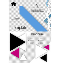 Set of cover design template annual report cover vector