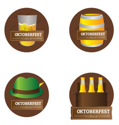 set of oktoberfest labels vector image
