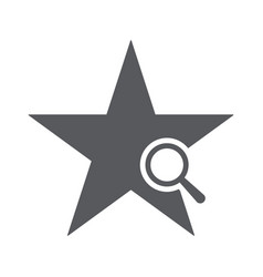 star icon with research sign vector image