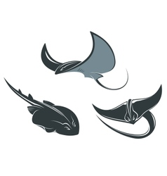 Stingray mascots vector