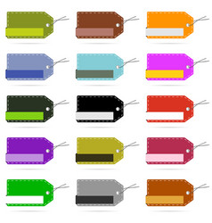 tag blank design collection in various color set vector image