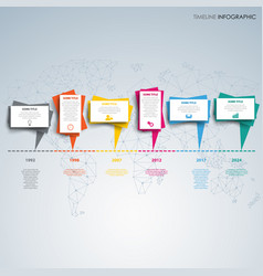 time line info graphic with behind abstract vector image