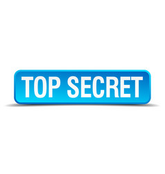 top secret blue 3d realistic square isolated vector image