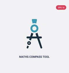 Two color maths compass tool icon from tools and vector