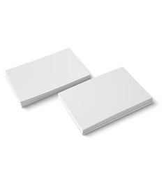 Two stack blank business card vector