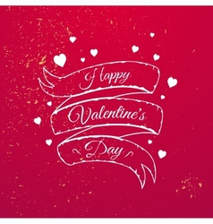 Valentines Day typography vector image vector image