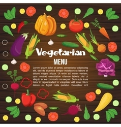 Vegetables Flat Menu vector image