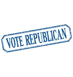 Vote republican square blue grunge vintage vector