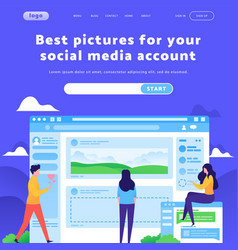 web site design template social media vector image