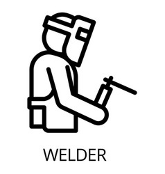 welder icon outline style vector image