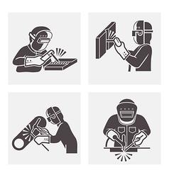 Welding icons vector