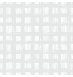 White plaid pattern with hand drawn stripes vector