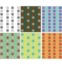 Assembly of the six color patterns vector image vector image