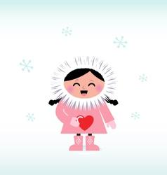 cute eskimo vector image