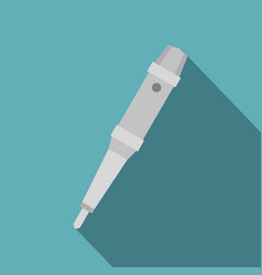 Grip of tattoo machine icon flat style vector
