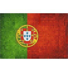 Mosaic Flag of Portugal vector image vector image