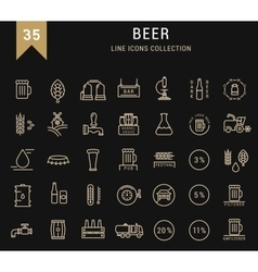 Set Flat Line Icons Beer vector image vector image