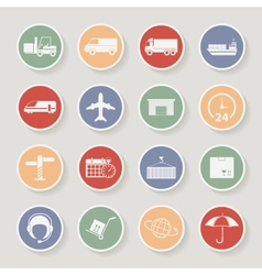 Shipping and Logistics Round Icons vector image vector image
