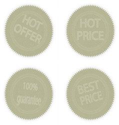 Stickers warranty vector image vector image