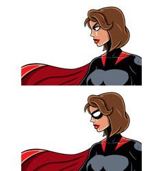 superheroine portrait vector image