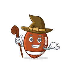witch american football character cartoon vector image vector image